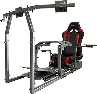 GTR Simulator - Model GTA-Pro Racing Simulator Home Workstation Racing Cockpit with Real Racing Seat (Black) and Racing Rig Control Mounts for Driving and Flight Simulator Gaming