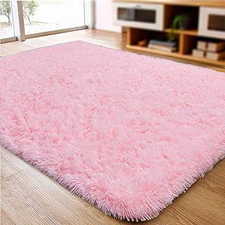 ACTCUT Super Soft Modern Shag Area Silky Smooth Kids Room Rugs Living Room Carpet Girls..
