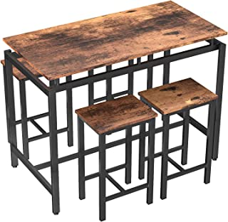 MIERES 5 Pcs Dining Table Set Kitchen Counter with Height...