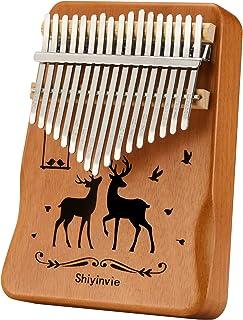 Kalimba Thumb Piano 17 Key Instruments Musical، Portable Mahogany Wood Mbira Finger Finger هدایا برای کودکان و بزرگسالان مبتدی