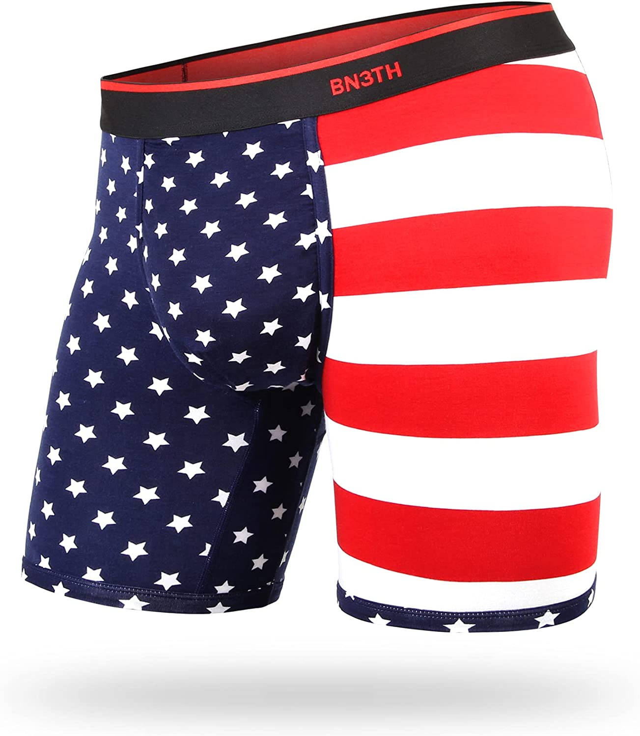 BN3TH Men's Classic Boxer Brief Prints Collection - Breathable Underwear with Three-Dimensional MyPakage Pouch