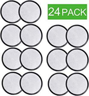 PUREUP Charcoal Water Filters Discs Compatible with Mr. Coffee Machines Replacement Filter 24-Pack