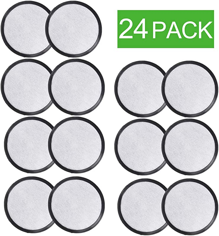 PUREUP Charcoal Water Filters Discs Compatible With Mr Coffee Machines Replacement Filter 24 Pack
