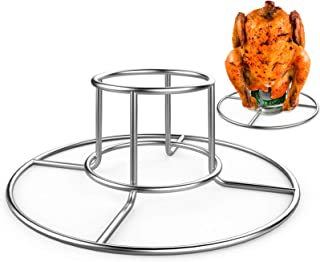 RUSFOL Beercan Chicken Rack, Stainless Steel Chicken Stand for Smoker and Grill