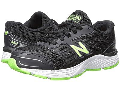 New Balance Kids YP680v5 (Little Kid/Big Kid) (Black/RBG Green) Boys Shoes