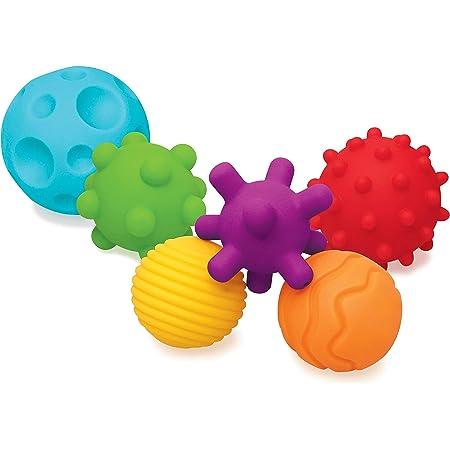 Infantino Textured Multi Ball - pelotas con texturas para la exploración sensorial y despertar su interés, a partir de los 6 meses, sin BPA