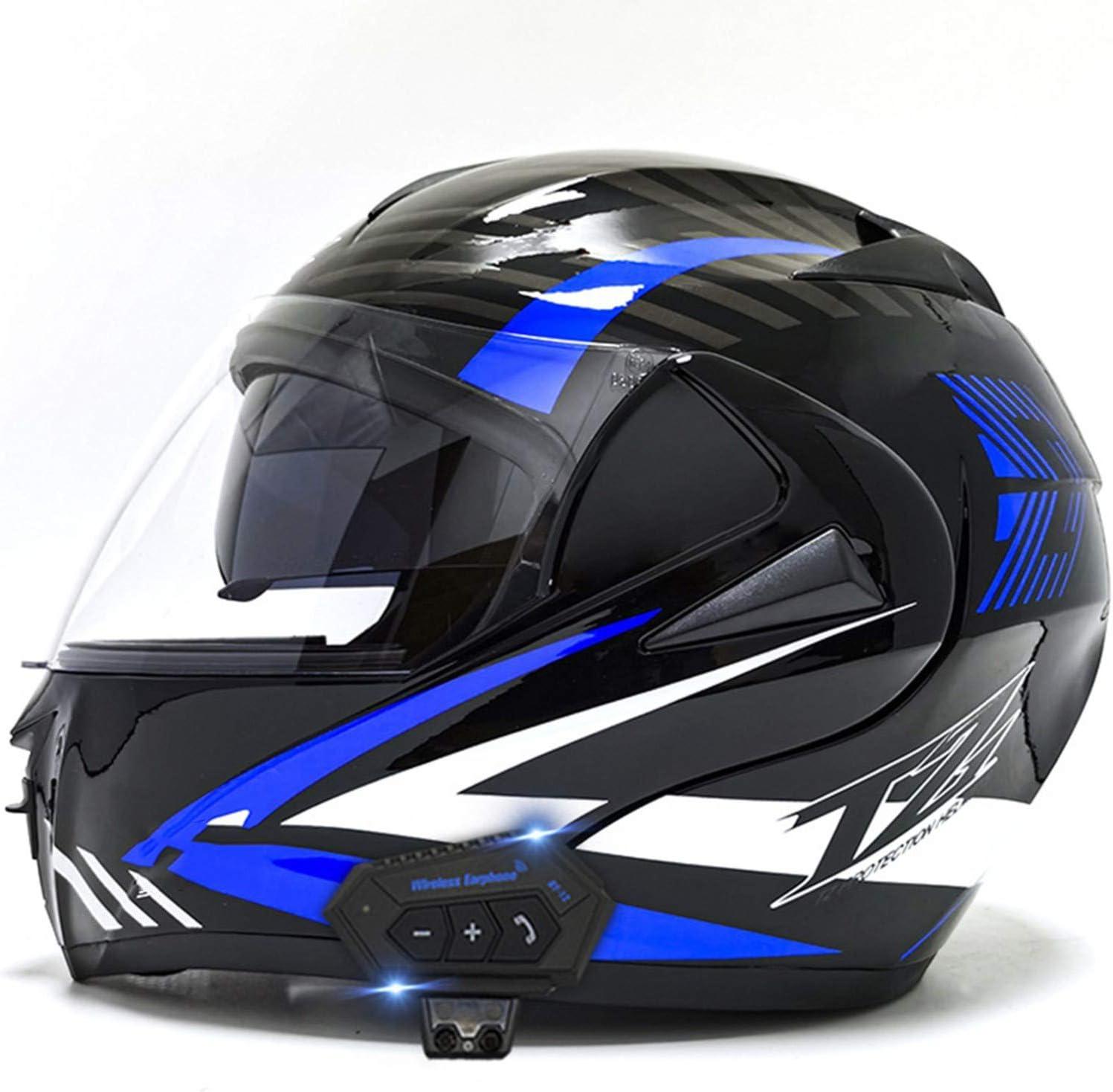 Flip-Up Helmets 2021 new Max 56% OFF Motorcycle Bluetooth Up Du Modular Flip