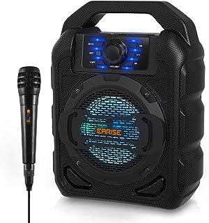 EARISE T15 Portable Bluetooth Karaoke Machine for Kids & Adults, Wireless PA Speaker..