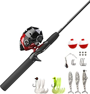 Zebco 202 Spincast Reel and Fishing Rod Combo, 5-Foot...