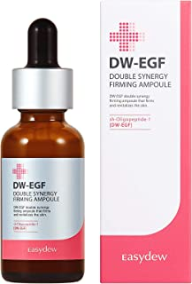 Best Easydew DW-EGF Double Synergy Firming Ampoule 1.01 fl oz - Award-Winning Anti Aging Ampoule with Human Epidermal Growth Factor - Produce Collagen to Rejuvenate & Regenerate Cells Gift for Her Review
