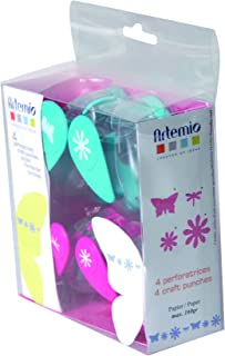 Artemio – Set de 4 perforatrices Fleurs et Nature