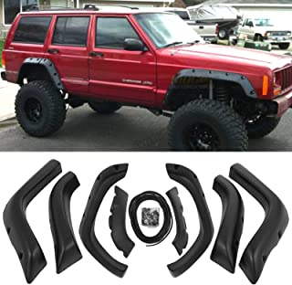 Mophorn Fender Set Fit Jeep Cherokee XJ 1984-2001 Fender Flares Pocket Style Wheel Cover ABS