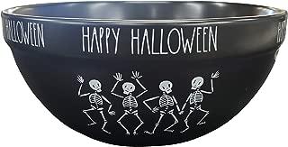 Rae Dunn Artisan Collection by Magenta Black Happy Halloween Bowl Dancing Skeletons