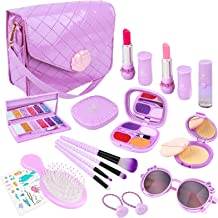 Meland Pretend Play Makeup for Girls - 20PCS Kids Fake-Makeup Toy & First Play Purse Set, Princess Birthday for Toddler Li...