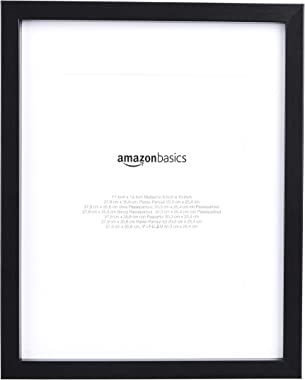 """AmazonBasics 11"""" x 14"""" Photo Picture Frame or 8"""" x 10"""" with Mat - Black, 2-Pack"""