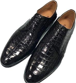 [ビジネスシューズ] 新品 最高級 貴重品 クロコダイル 紳士 天然 ワニ革 靴 メンズ 実物写真 本物保証 紳士靴
