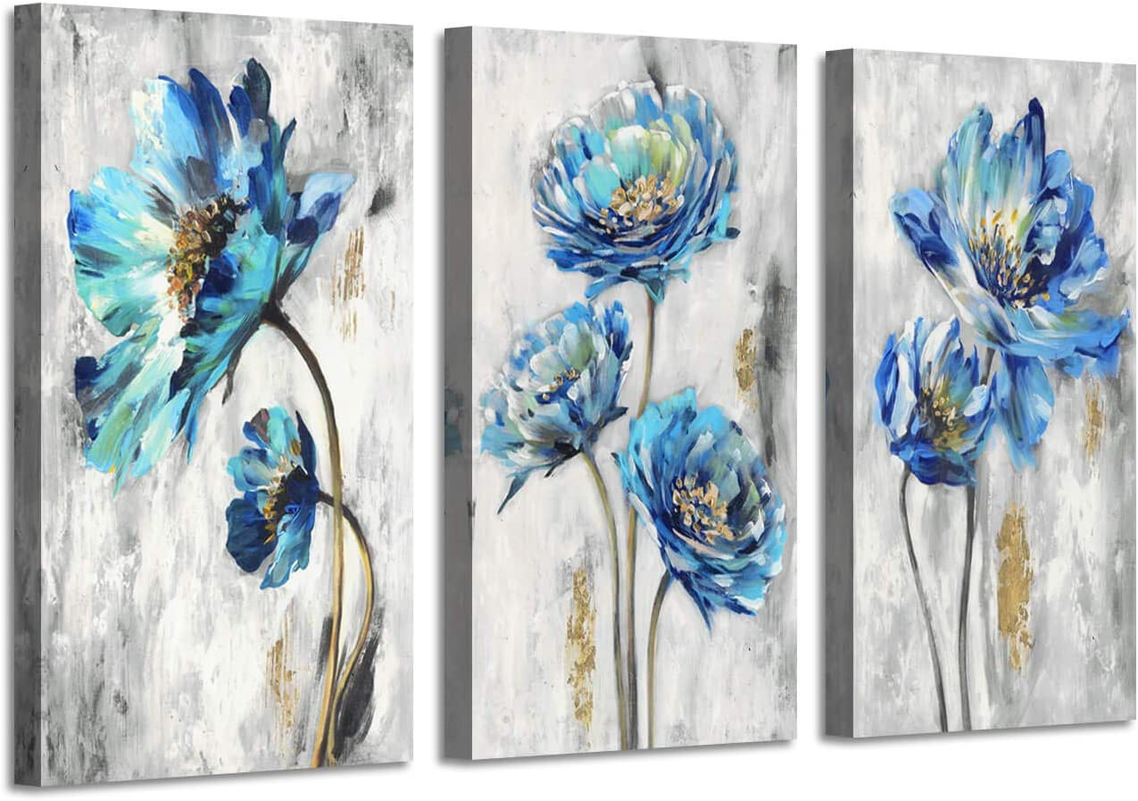 ARTISTIC PATH Abstract Floral Regular store Art At the price Picture: Pa Teal Flower Splash
