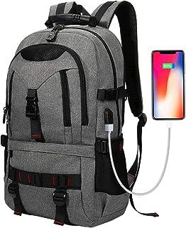 Mochila de Portátil Backpack Impermeable Para el Laptop del Negocio, Trabajo, Diario, Ocio - 17L Negro (Gris)