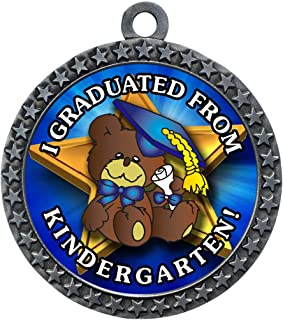 Express Medals 1 to 50 Packs Kindergarten Graduation Silver Medal Trophy Award with Neck Ribbon D212-FCL499