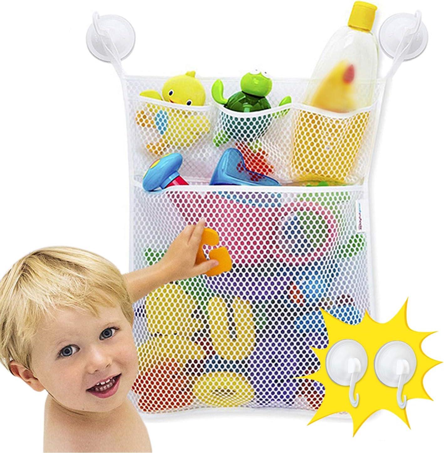 JUNSHEN Regular dealer Baby Seasonal Wrap Introduction Bath Toy Storage Bag Func Cups Suction 4 with Multi