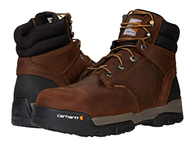 Carhartt Ground Force 6 Waterproof Comp Toe (Bison Brown/Oil Tan) Men