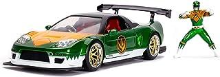 Power Rangers Green Ranger & 2002 Honda NSX Type-R Japan Spec 1:24 Die - Cast Vehicle with Figure