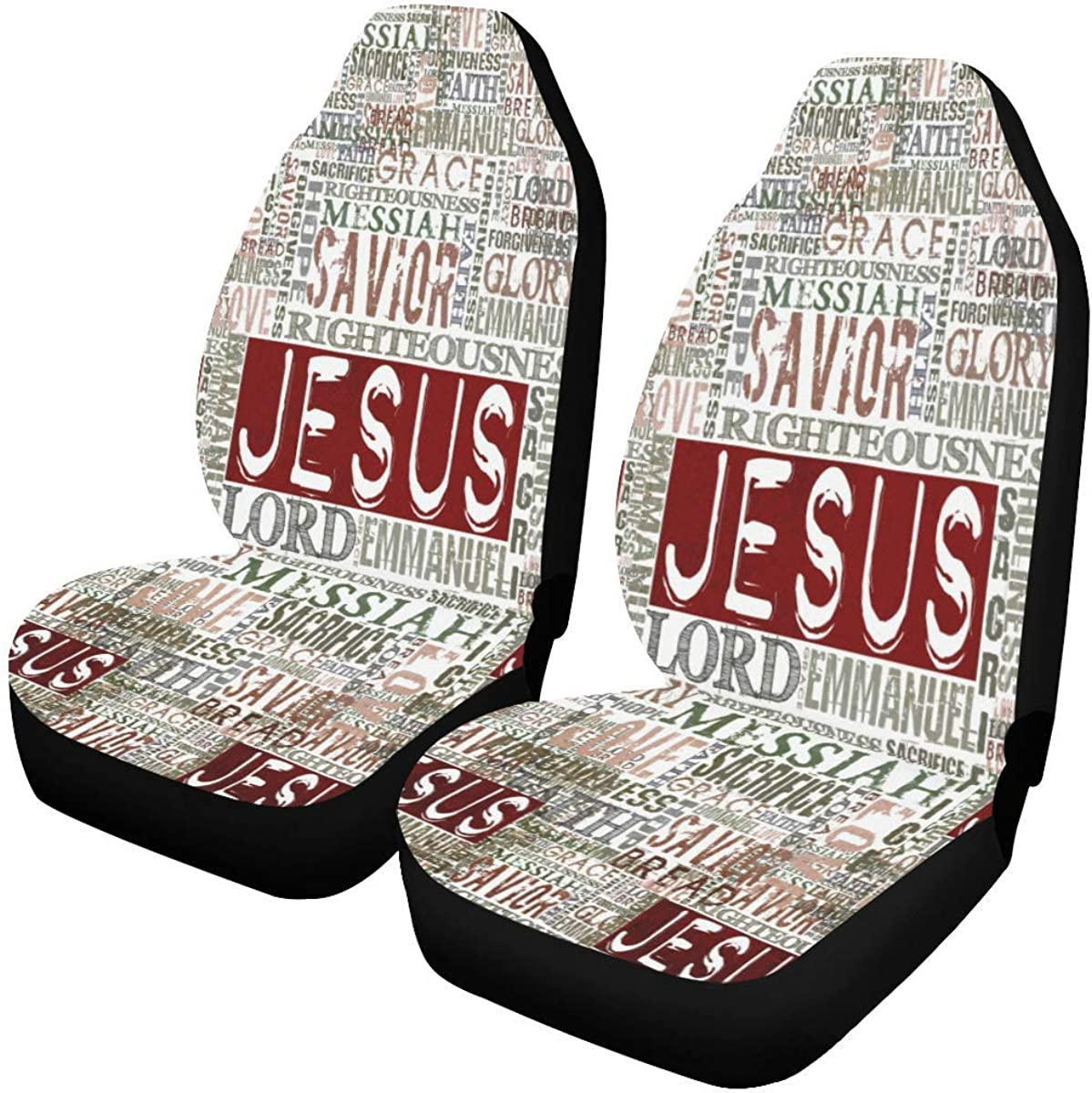 InterestPrint Religious Christian Deluxe Excellence Bible Verse Car Se Covers Seat
