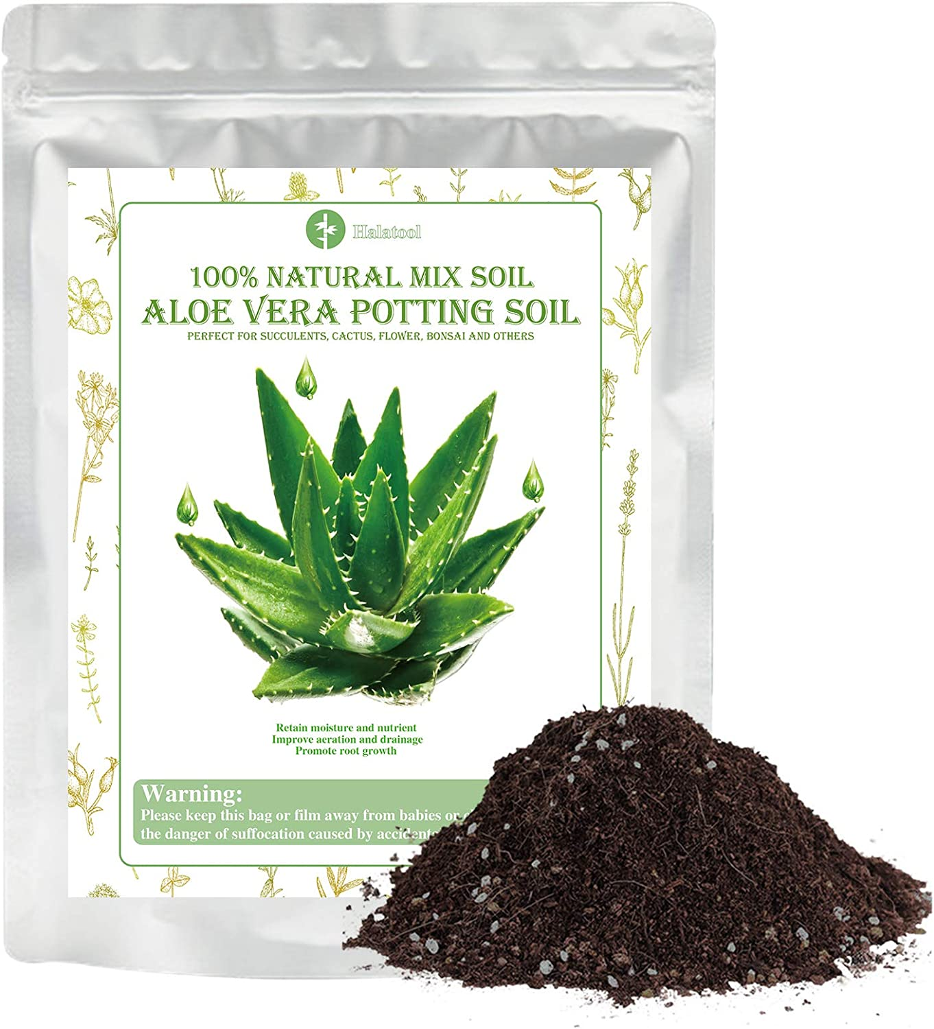 Aloe Popularity Vera Soil Mix Hand Succule Max 46% OFF Blended- Professional Cactus and