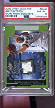 2008-09 Upper Deck MVP Game Night Souvenirs Allen Iverson Game-Used Game-Worn Jersey NBA Graded Basketball Card PSA 8