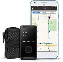 Amcrest - Rastreador de vehículos con GPS GL300 (4G LTE), portátil, pequeño, seguimiento en tiempo real y oculto para vehículos, autos, niños y personas, recursos con geovalla, mensajes de texto, correo electrónico, notificaciones y batería de 14 días