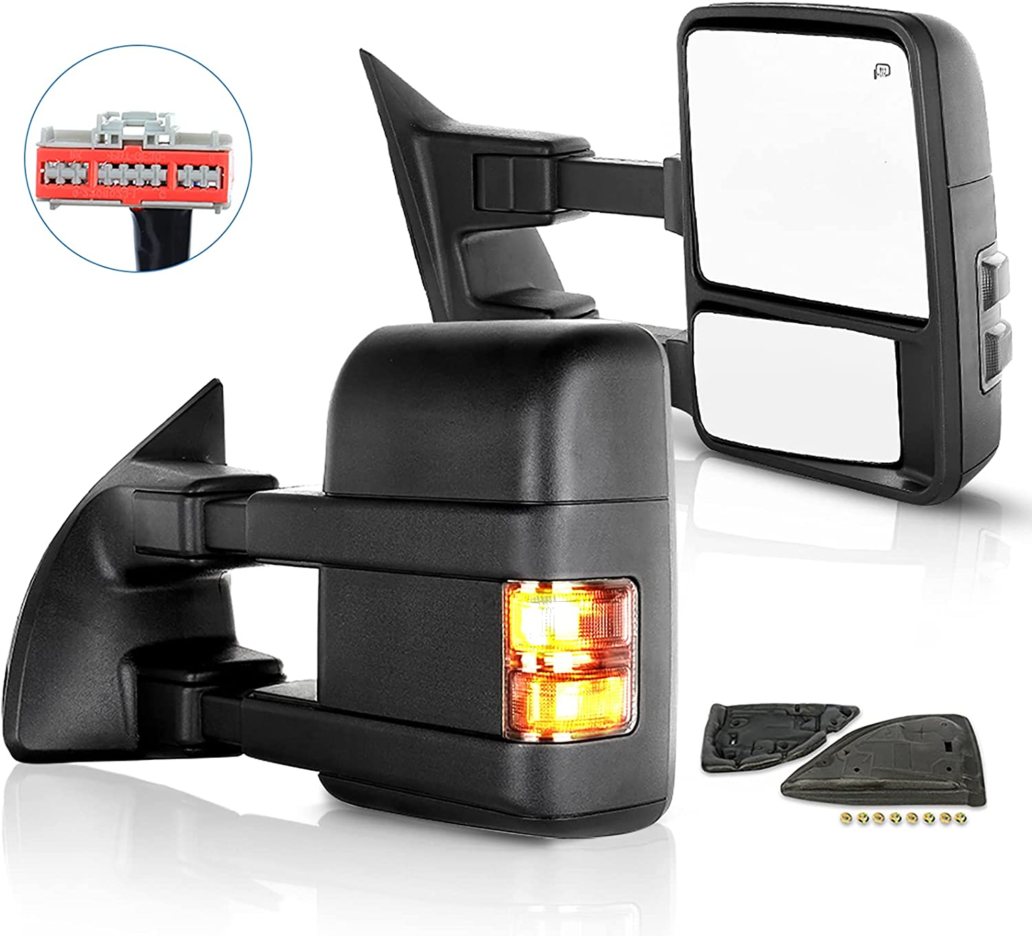 ECCPP Towing Portland Mall Mirrors Replacement fit F350 High order for F250 Ford