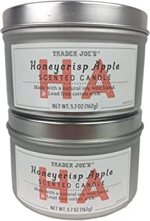 Trader Joe's Honeycrisp Apple Scented Candle, Bundle Two