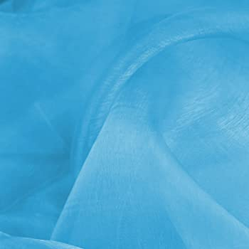 """3 MTR SKY BLUE ORGANZA VOILE WEDDING,CURTAINS,DECORATION DRESS FABRIC 58"""" NEW"""