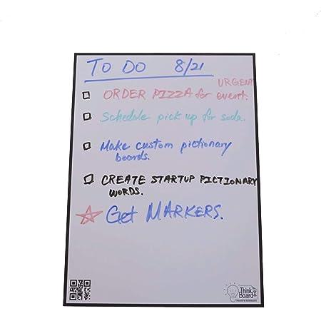 【シリコンバレーで愛される】シンクボード 次世代のホワイトボードシート クラウド型 どこにでも設置可能 職場や学校の環境をアップデート ThinkBoard X マーカー&専用タオル付 取付け簡単 【ホワイトボード 壁掛け 壁 机 カレンダー マグネット オフィス 会議室 勉強 ウォールステッカー】Small