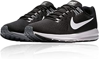 Nike Air Zoom Structure 22 Women's Running Shoe Wide (D) Black/White-Gridiron 10.5