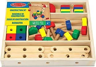 Melissa & Doug- Construction Building Set in a Box construcción de Madera, Multicolor (15151) , color/modelo surtido