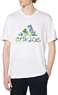 adidas mens MEN BADGE OF SPORTS LOGO BRANDED TAPE TEE T-Shirt