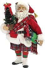 Kurt Adler Fabriche' Musical Scotland Santa, 10-Inch