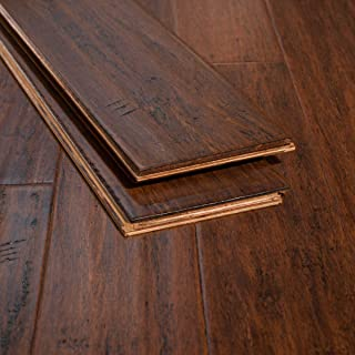 Ambient Bamboo - Bamboo Flooring Sample, Color: XtraWideToasted Almond, Engineered Click Lock