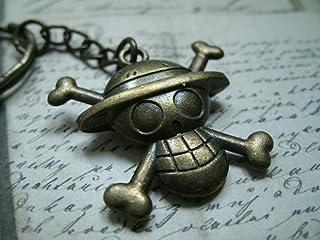 bronzo metallo portachiavi che rappresenta il logo della One Piece
