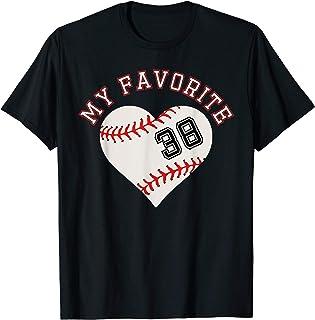 Baseball Spieler Trikot Nummer 38 T-Shirt Geschenk Sport T-Shirt