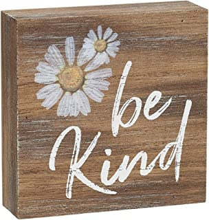 Collins Painting 'Be Kind' Inspirational Wood Grain Mini Block Sign, 3.5