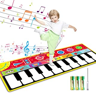 Tencoz Kids Musical Mats, 10 Keys Piano Mat with 8 Selectabl