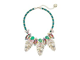 Colorful Palm Leaf Statement Necklace