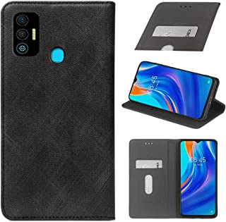 YLYT Business Shockproof - Black Flip Leather Retro Cover With Stand Wallet Case For Tecno Spark 7T 6.52 inch With Card Slots