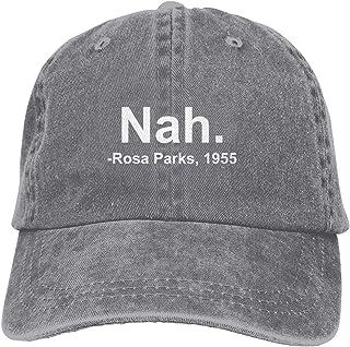OASCUVER Nah. Rosa Parks, 1955 Vintage Denim Hat Adjustable Washed Baseball Cap for Men and Women