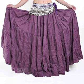 3941d8c97 Vateno Boho Gypsy Long Skirt for Womens Spain Belly Dance Pink White Linen  Pleated Maxi Skirts