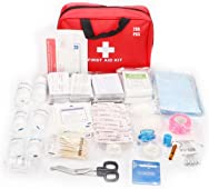 AUSELECT First Aid Kit 280pcs for Hiking, Backpacking, Camping, Travel, Car & Cycling. with Waterproof Laminate Bags