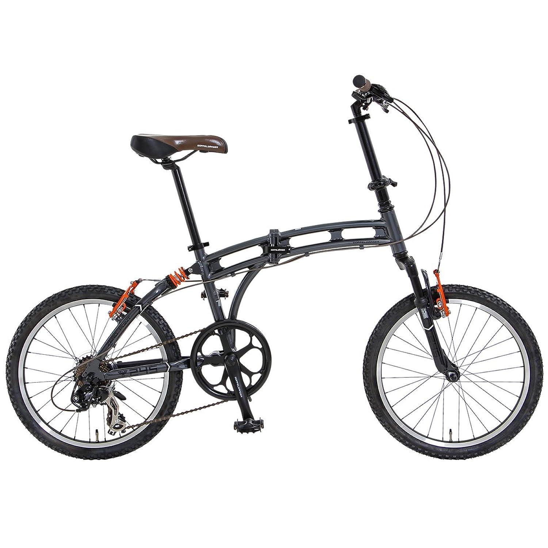 DOPPELGANGER(ドッペルギャンガー) 折りたたみ自転車 BLACKMAXシリーズ ZERO POINT 20インチ パラレルツインチューブフレーム採用モデル