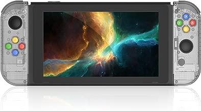 BASSTOP [Update Version] NS Joycon Handheld Controller Housing DIY Replacement Shell Case for Nintendo Switch Joy-Con (L/R) Without Electronics(Joycon-Smoke Black)